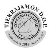 2º PREMIO A LA CALIDAD JAMÓN DE TERUEL 2018